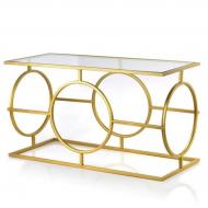 Столик металлический Flora Cedric Золотой (35449)