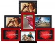 Фоторамка деревянная HandiCraft 42х52 см Красный/Черный (Пр-КЧ)