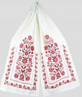 Рушник обрядовый льняной Галерея льна Добробут 43х215 см Белый с красной вышивкой (82-24/188/237/76)