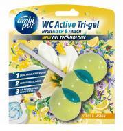 Гелевая подвеска для туалета Ambi Pur WC Active Tri-gel Цитрус и жасмин 45 г (825029)