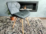 Кресло скандинавское Zano Эко-кожа Black