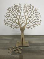 Дерево пожеланий Manific Decor с табличкой и сердечками из фанеры на свадьбу 50х47 см