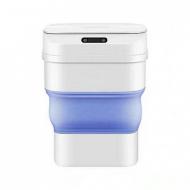 Сенсорное ведро Bucket ZSW-L11 с крышкой 8 л Бело-голубой (L4910)
