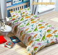 Комплект детское постельное белье полуторка Динозавры