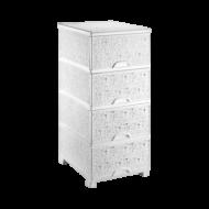 Комод ажурный Elif Plastik 295 38х46х90 см Белый