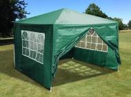 Садовий павільйон шатер з вікнами 3,0 х 3,0 х 2,5 м Зелений