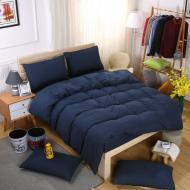 Двоспальний комплект постільної білизни Темно синій (1306649)