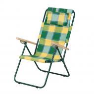 Крісло-шезлонг Ясень тканина бязь 20 мм Жовто-зелений