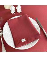 Салфетка на стол тканевая 35х43 Бордовый