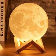 Ночник настольный 3D Moon Light Lamp Луна пульт 16 цветов