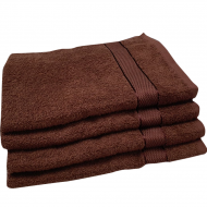 Полотенце махровое коричневое 50*90 см ( бордюр сатин ) Аиша