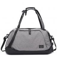 Спортивна сумка-рюкзак TuGuan 1816 з відділом для взуття і для мокрих речей Сірий