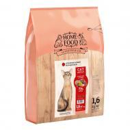 Корм HOME FOOD для дорослих кішок гіпоалергенний беззерновой Качине філе з грушею 1,6 кг