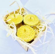 Набор чайных восковых свечей из вощины BeesWax Таблетка 3 шт. (962)