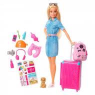 Ігровий набір Лялька Барбі мандрівниця + 15 аксесуарів Mattel