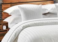 Комплект постельного белья евро Еней-Плюс МІ0001 Белый