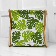 Кошик для білизни Тропічне листя складний 44х44х39 см (KOR_21S026)