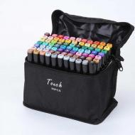 Набор маркеров Touch 80 шт. для рисования Черный (Mrkr 004)