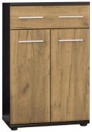 Комод Мебель Сервис Трио 2Д1Ш Венге темный + Дуб крафт (60.2х32х96.4 см)