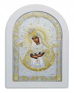 Икона Божией Матери Остробрамская Agio Silver 22,5x17,5 см серебро 925° с позолотой Белый