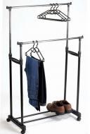 Стойка-вешалка телескопическая Double-pole двойная для одежды и обуви
