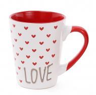 Чашка керамическая Flora Сердца 0,34 л (31585)