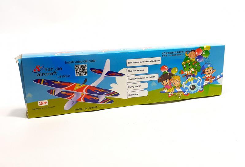 Літак з моторчиком Yan Jie Aircraft Біплан планер метальний - фото 12