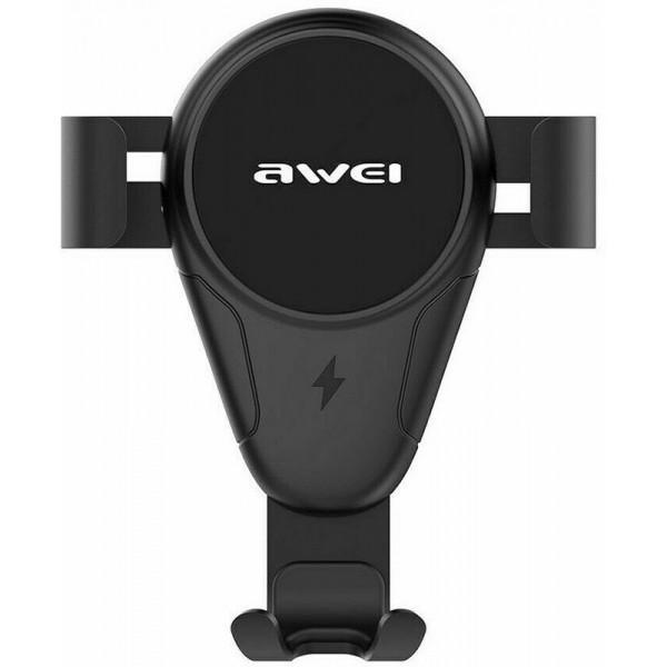Тримач Awei CW3 Wireless Car Holder Black (F_109292) - фото 2