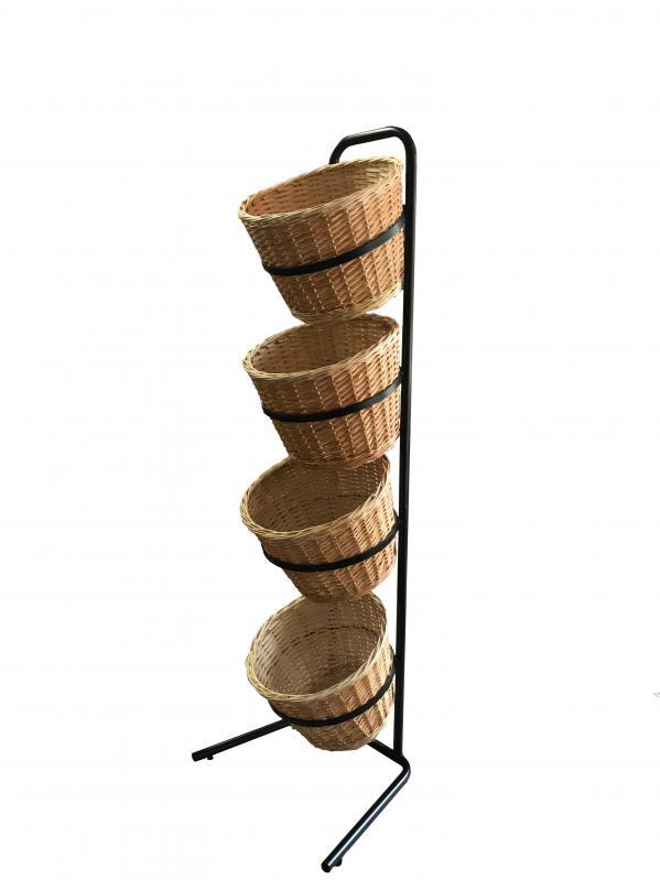Стійка-стелаж з кошиками для продуктів - фото 1