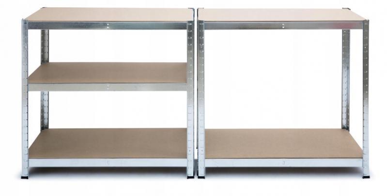 Стелаж металевий Kontrast HD5000 180x90x40 см Сріблястий - фото 2