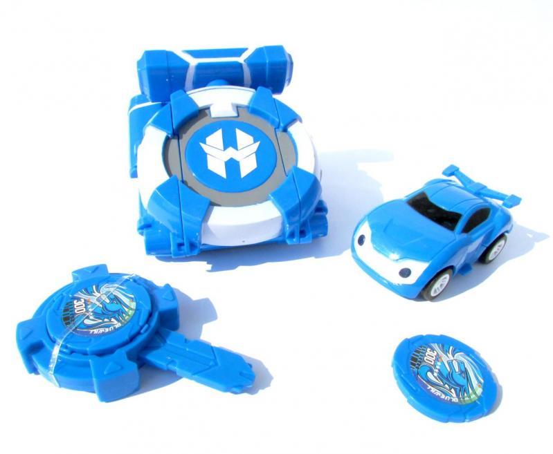 Іграшка Dabitoy Ліга Вотчкар машинка Блюввил і Джин та запускач WatchCar Синій - фото 1