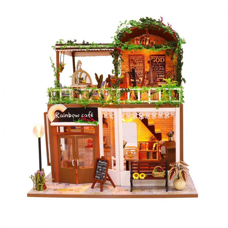 3D Румбокс CuteBee DIY DollHouse Радужне кафе (M92) - фото 2