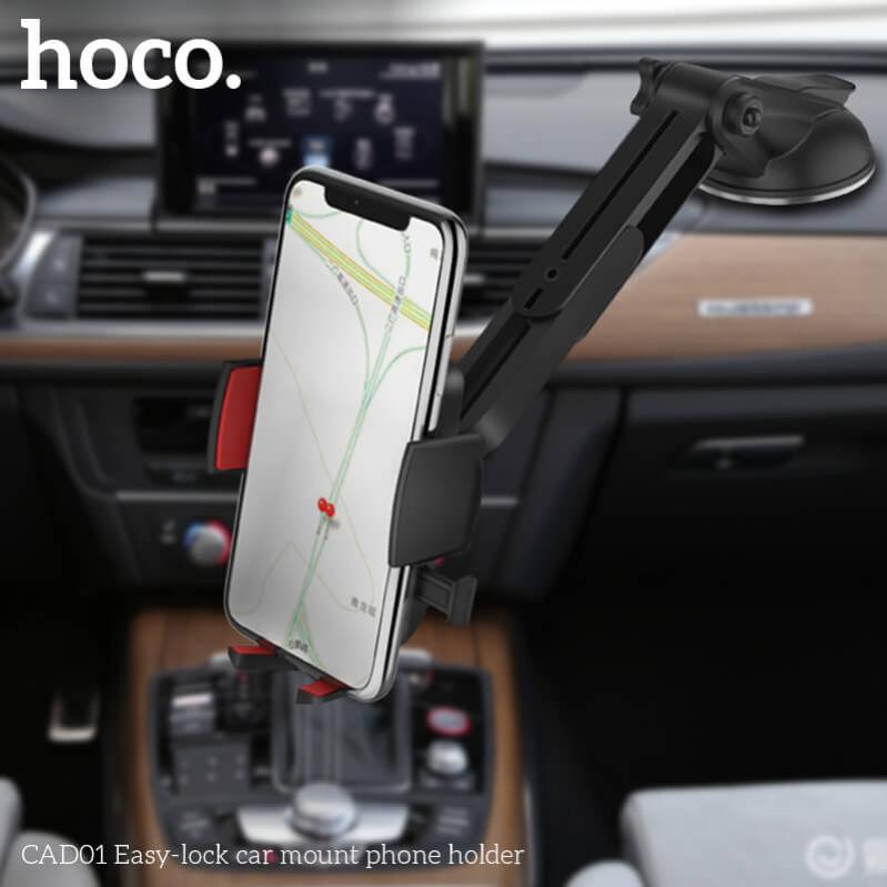 Автомобільний тримач HOCO CAD01 для телефону Чорний - фото 5