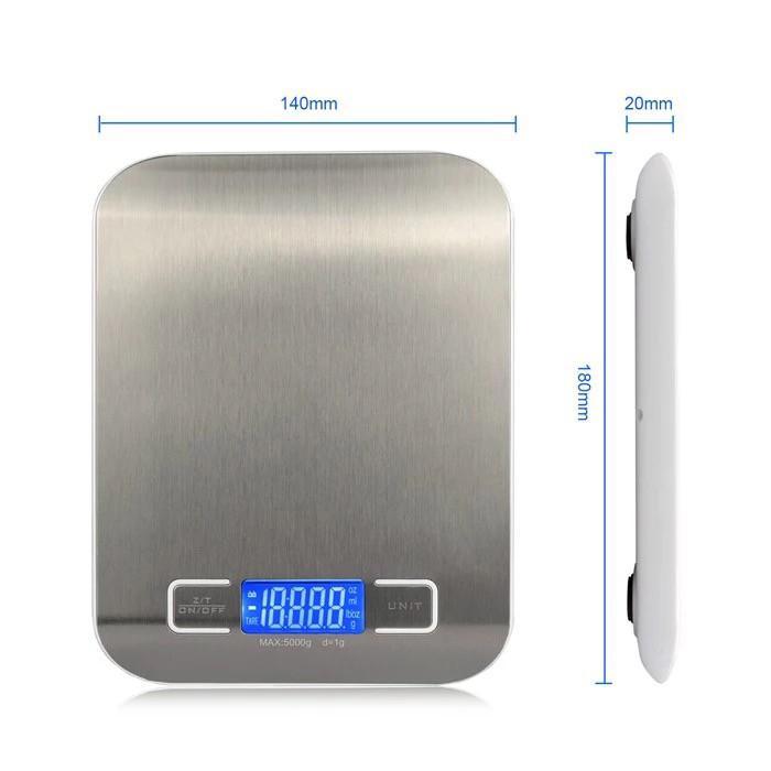 Весы кухонные с металлической платформой Kitchen SF-2012 до 5 кг - фото 7