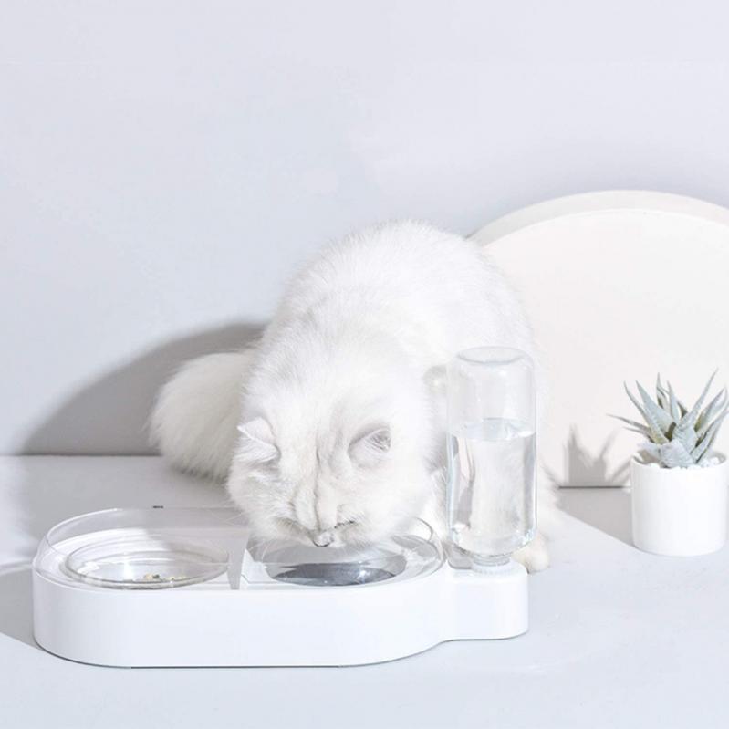 Миска для собак і кішок Els Pet з вбудованою поїлкою 500 мл Білий - фото 11