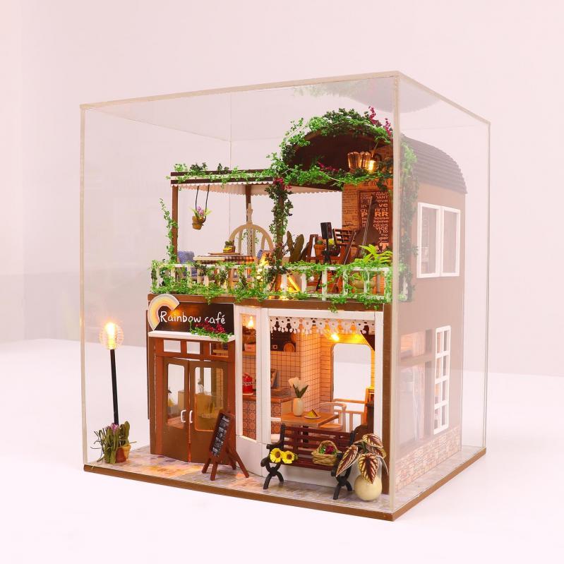 3D Румбокс CuteBee DIY DollHouse Радужне кафе (M92) - фото 5