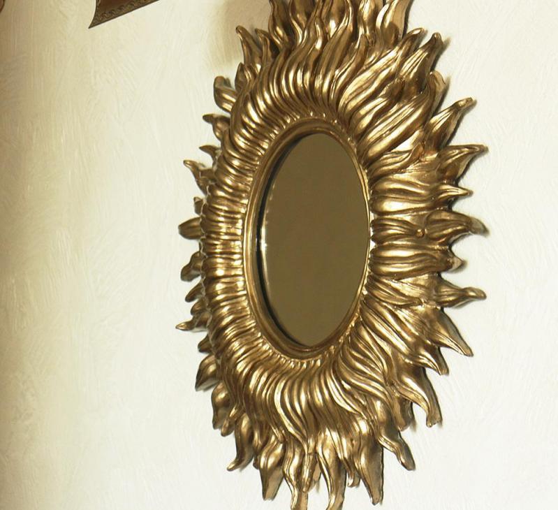 Зеркало настенное Гранд Презент Солнце 55 см Золотой (НД953) - фото 4