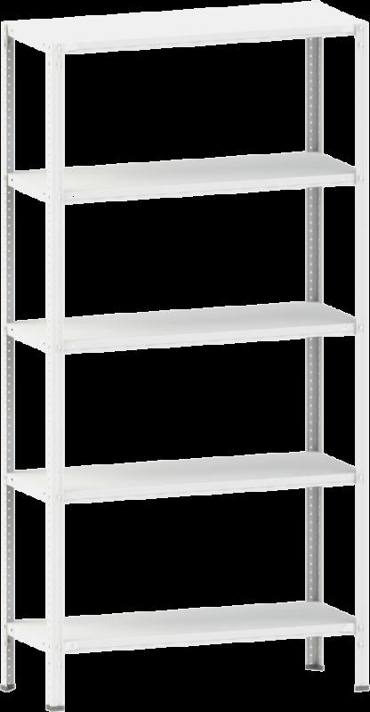 Стелаж металевий 5х100 кг/п 2000х700х400 мм на болтовому з'єднанні - фото 1