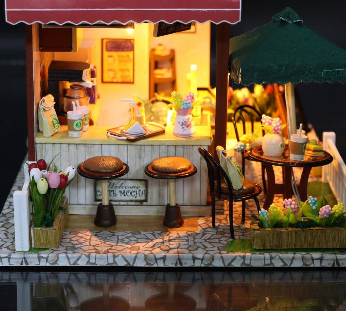3D Румбокс CuteBee Coffee Time DIY DollHouse Кафе (V356SD) - фото 10
