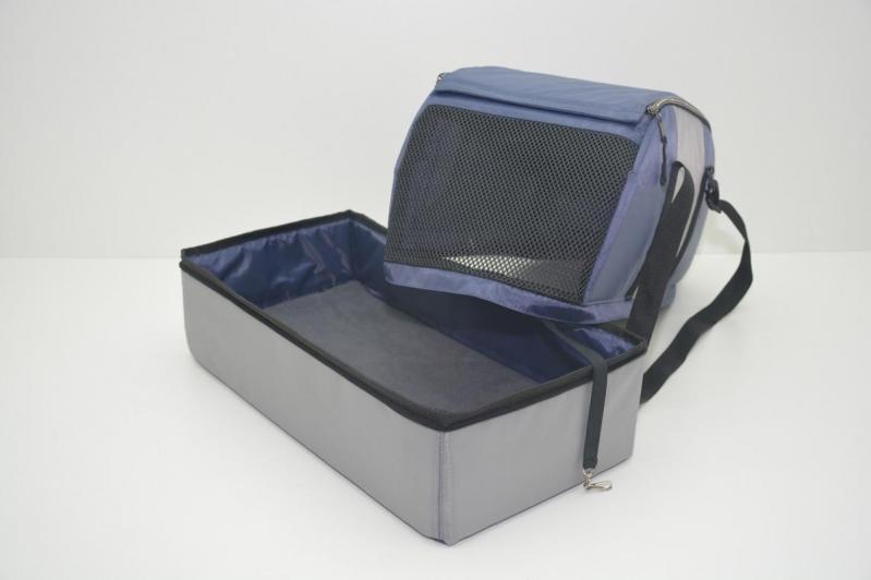 Сумка-переноска для тварин Гармонія 250х500х350 мм Синьо-сірий - фото 4