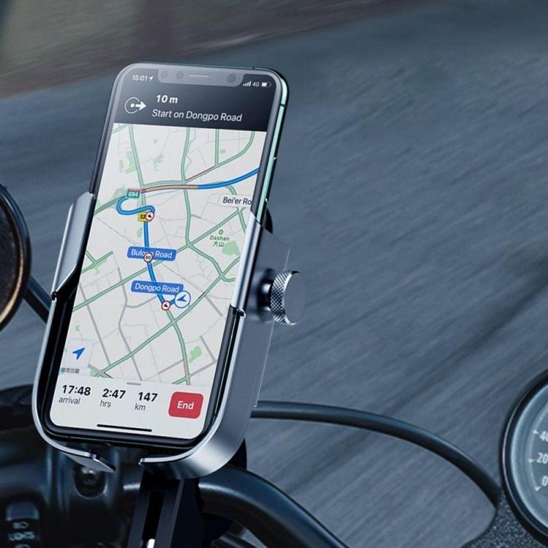 Тримач для мобільного телефона Baseus Armor Motorcycle holder Чорний (SUKJA-01) - фото 8