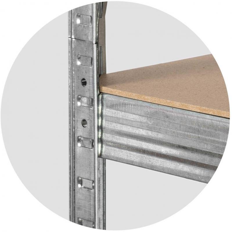Стеллаж металлический Humberg 180x90x30 см (35893) - фото 2