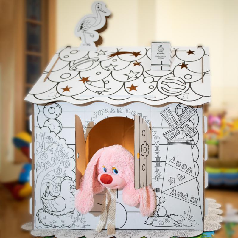 Дитячий картонний будиночок розмальовка Kindom 110х98 см - фото 5