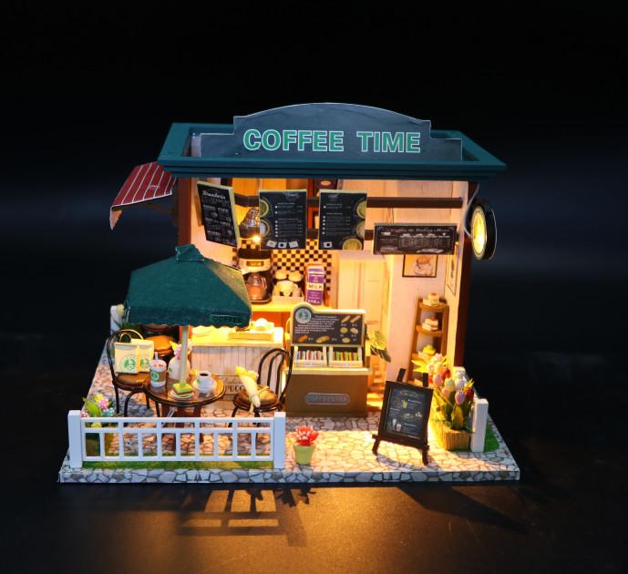 3D Румбокс CuteBee Coffee Time DIY DollHouse Кафе (V356SD) - фото 9