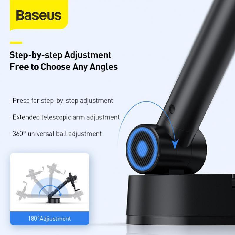 Тримач для телефону Baseus Simplism gravity car mount в машину Black - фото 5