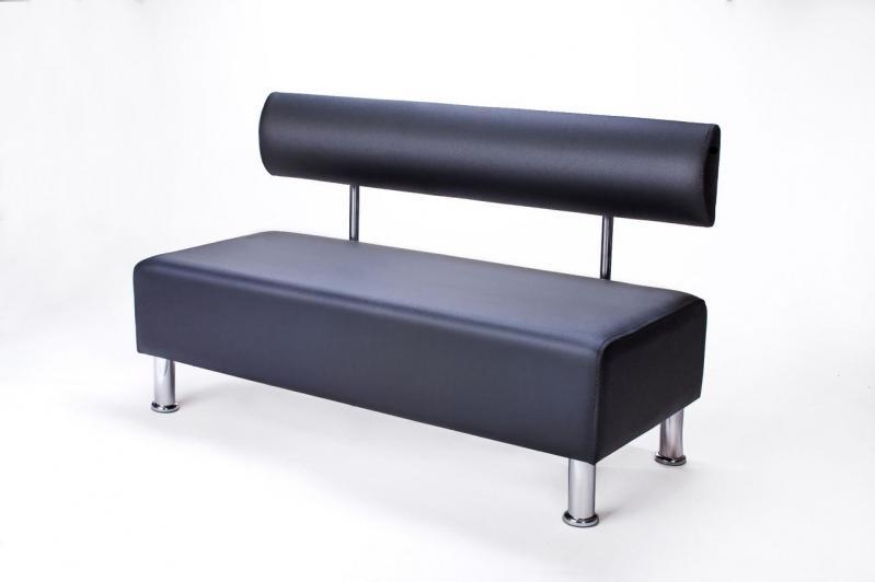 Диван прямий офісний BNB Mini 120 см Чорний - фото 2