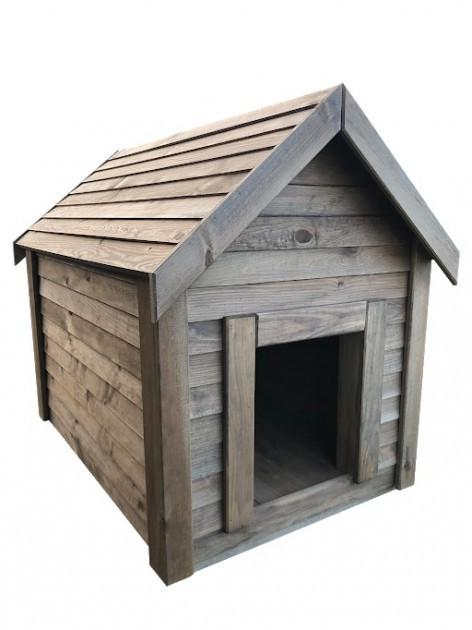 Будка для собаки DogHouse Palisandr дерев'яна утеплена середня (01-002) - фото 1