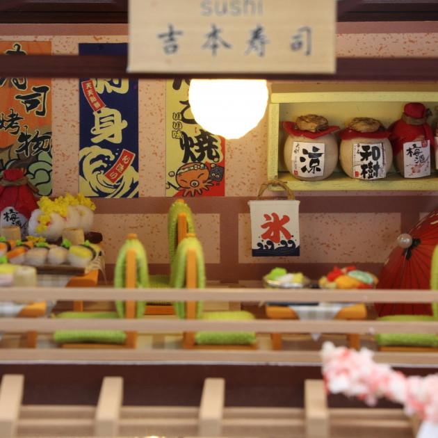 3D Румбокс CuteBee DIY DollHouse Суші-ресторан (G306) - фото 3