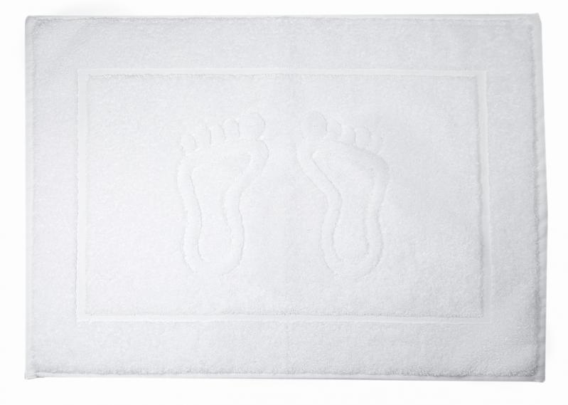 Полотенце махровое для ног 800 г/м2 50х70 см Белый (1306655) - фото 1
