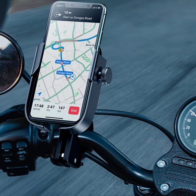 Вело-мото тримач Baseus Armor Motorcycle Чорний - фото 6